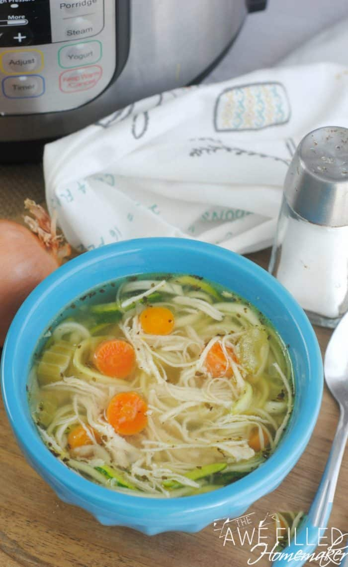 keto instant pot chicken zoodle soup