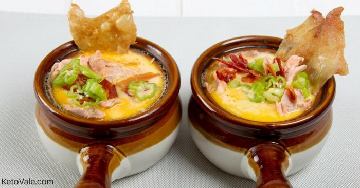 Jalapeno popper chicken soup keto