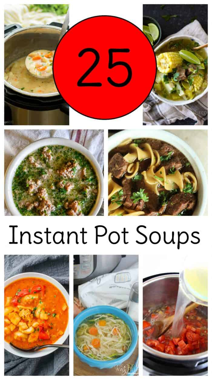Instant Pot soup recipes are even better than stove top ones in my book because you can fix them and forget them! Soup lovers rejoice with these <a href=