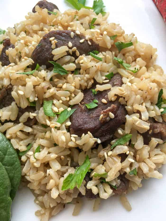 instant pot beef tips and rice recipe