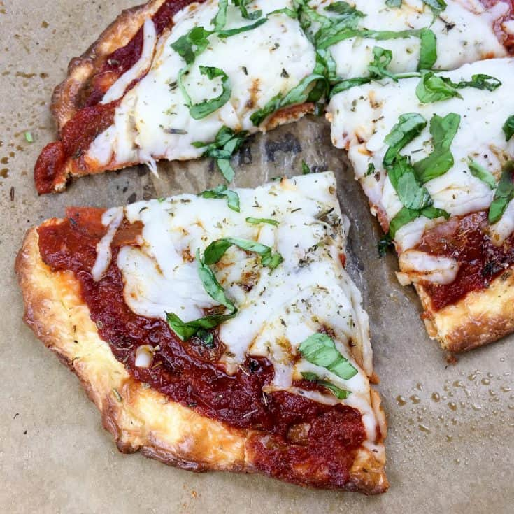 Keto Pizza Crust Made with Cream Cheese
