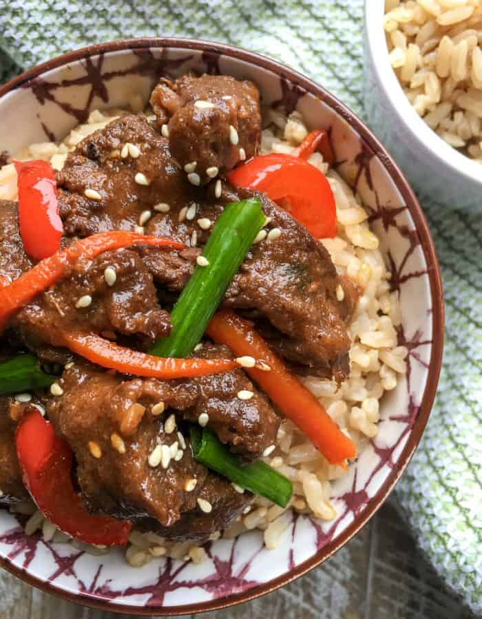 With this Instant Pot Mongolian Beef recipe you can enjoy a takeout favorite from the comfort of home (and skip the MSG). Serve it over brown rice for extra fiber or eat it solo or over cauliflower rice if you want to cut out some of the carbs.