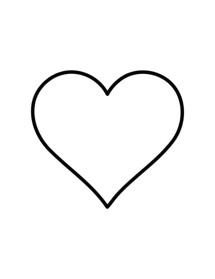 Free printable heart template pattern