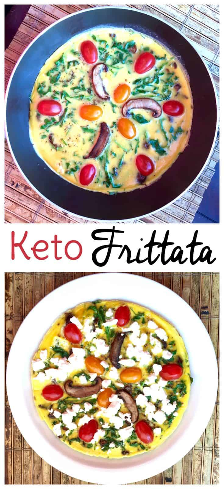Looking for low carb meals that satisfy? Try this keto frittata recipe! It makes a delicious keto breakfast obviously, but you may want to enjoy it for lunch or dinner too. #keto #frittata #lowcarb