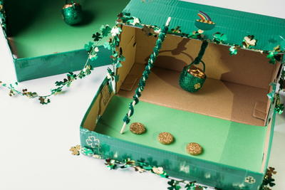 shoe box leprechaun trap