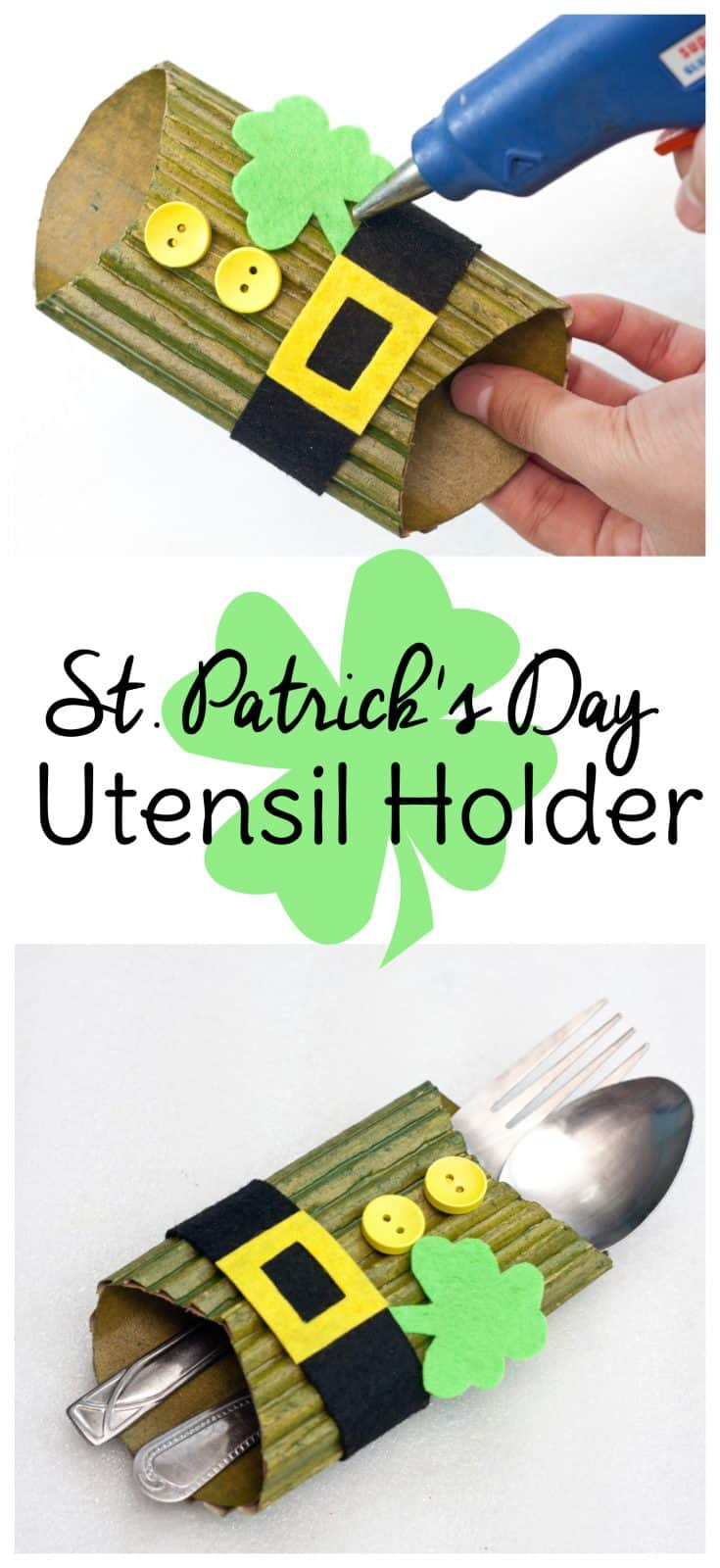 If you love St. Patrick's Day decor and DIY projects, you'll want to make this leprechaun craft for your St. Patrick's Day table decorations. #StPatricksDay #leprechaun #tablescape