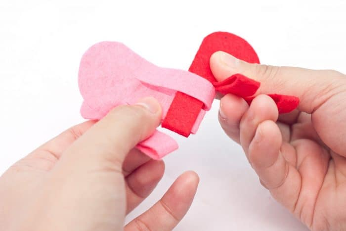valentine felt heart craft