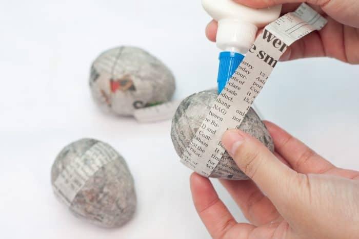 sealing paper mache cut