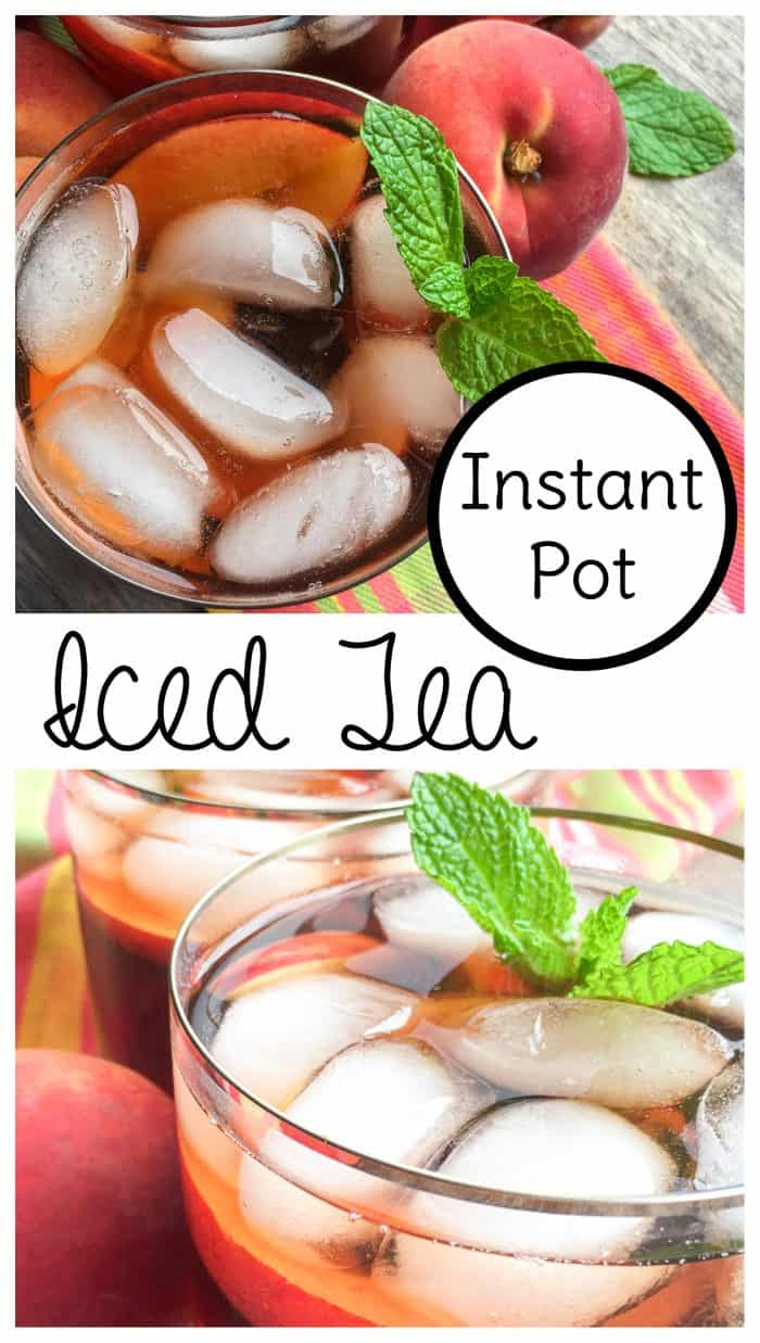Make Instant Pot iced tea with this delicious ginger peach iced tea recipe. #instantpot #icedtea