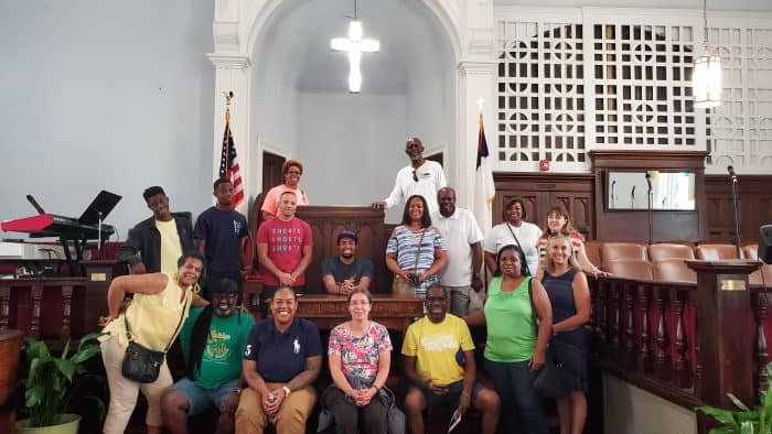 tour group picture at Dexter Ave memorial church