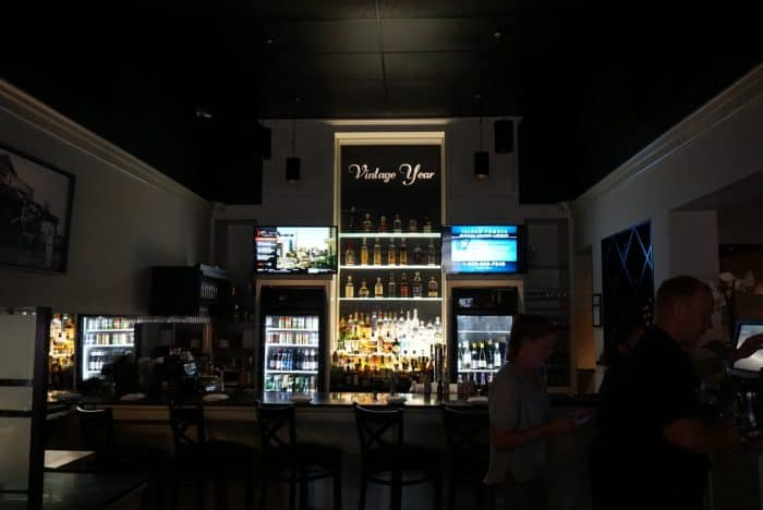 view of the bar at vintage year