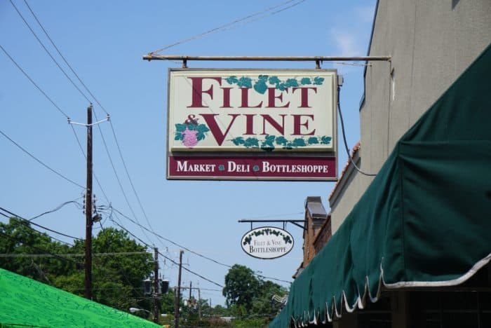 filet and vine sign