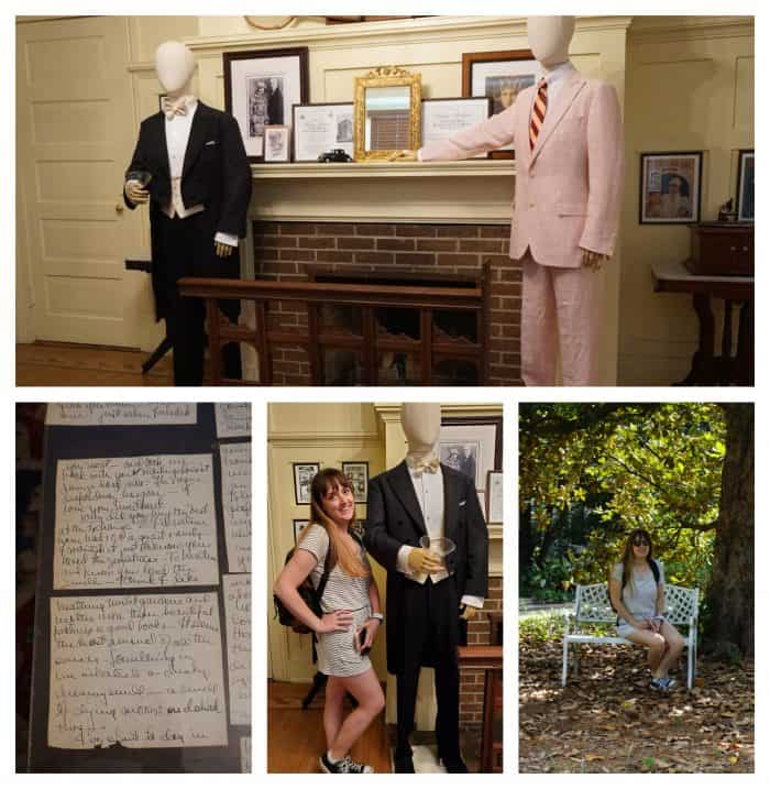 collage of The F. Scott and Zelda Fitzgerald Museum exhibits