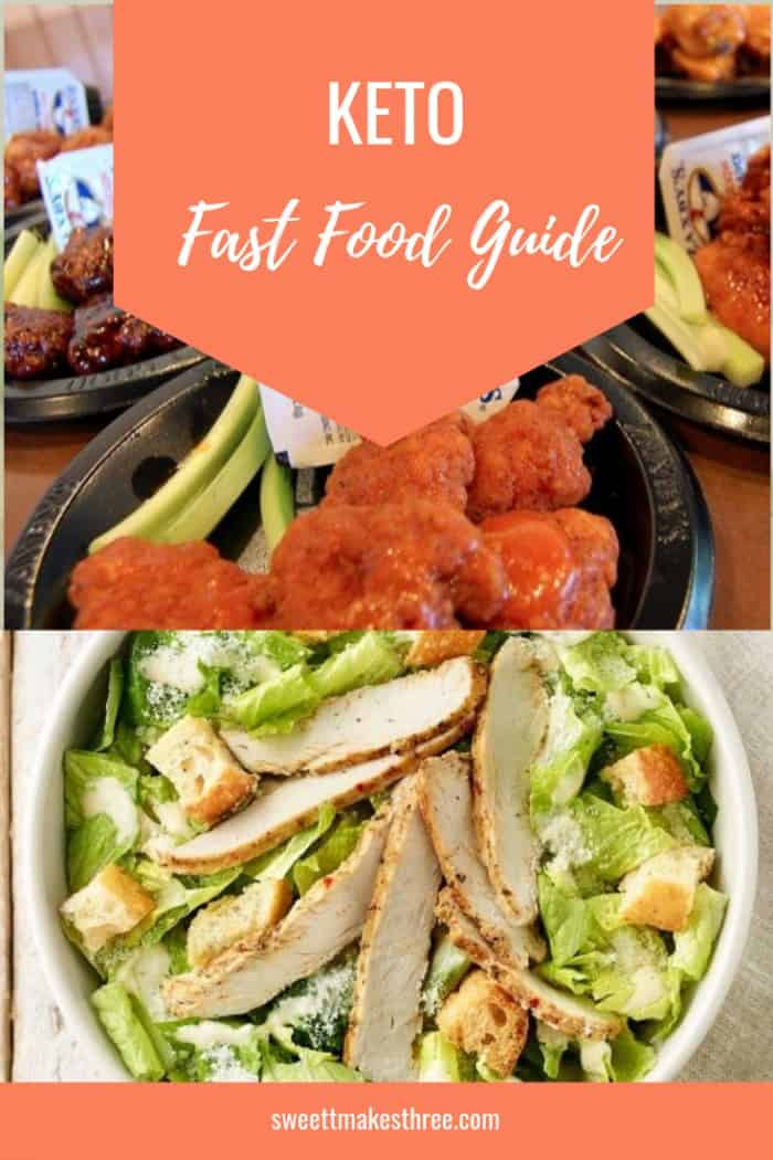 Keto fast food guide for making the best low carb choices you can while travelling or unable to cook. #ketofastfood #keto