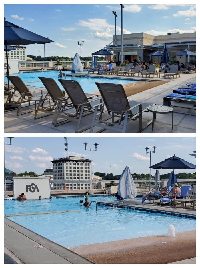 rooftop pool at montgomery renaissance hotel