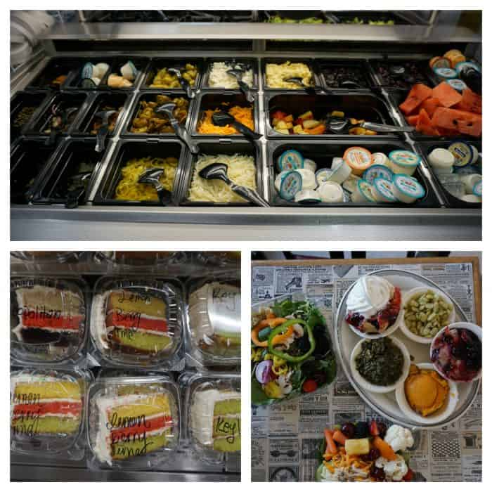 salad bar cakes and hot bar at filet and vine montgomery