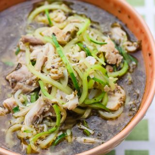keto instant pot zoodle soup with chicken
