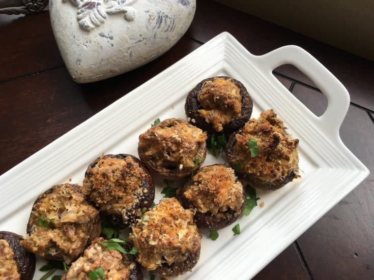Sausage Stuffed Mushrooms {Keto Friendly}