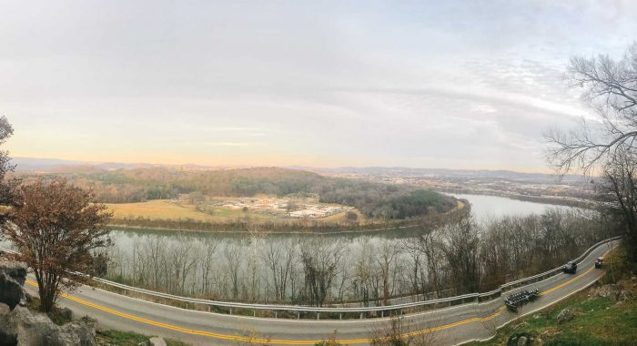 panoramic view of the tennessee river