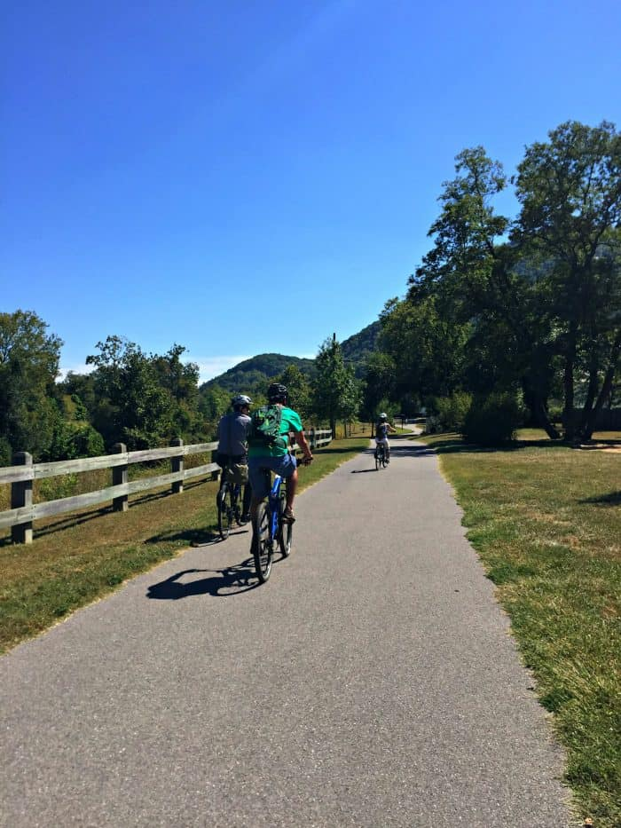 the Greenway in Virginia with bike riders