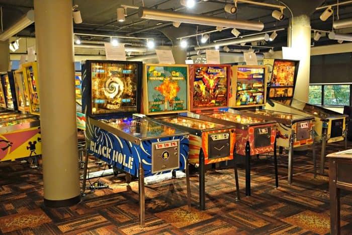 pinball machines in The Pinball Museum