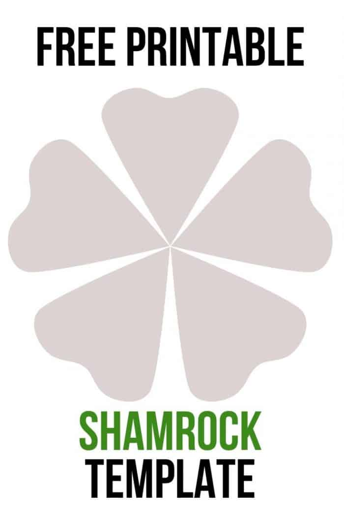 It is an image of Shamrock Template Printable Free within preschooler