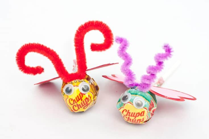 Valentine's Day Love Bug Lollipops
