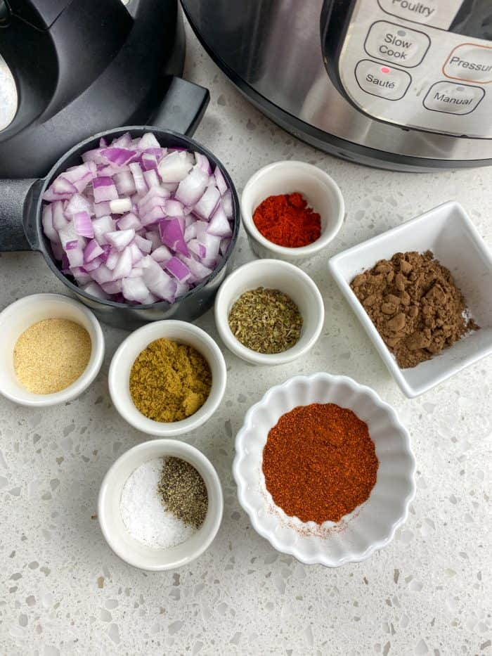 pressure cooker pulled pork chili ingredients