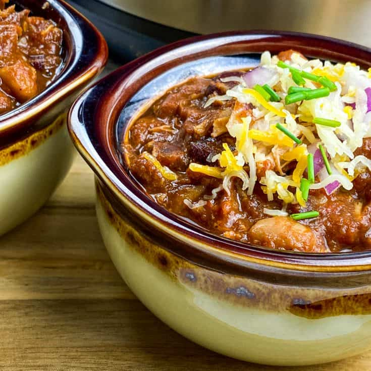 Pressure Cooker Pulled Pork Chili