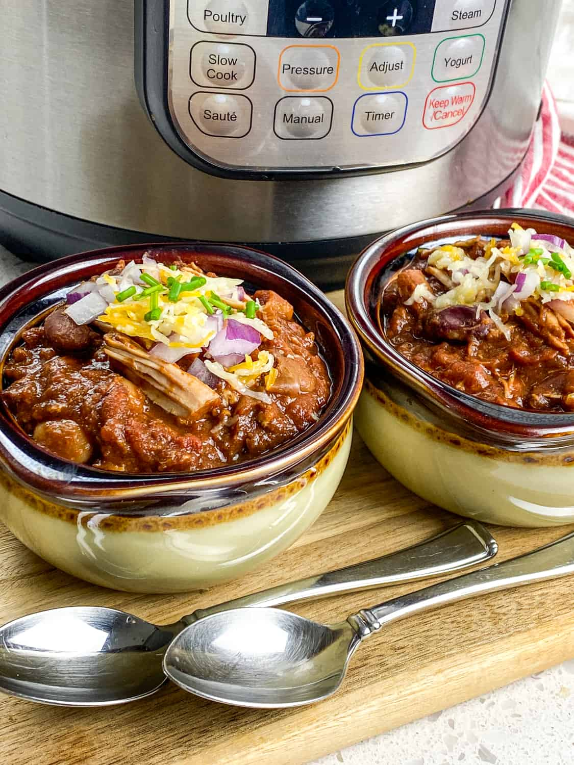 instant pot pulled pork chili