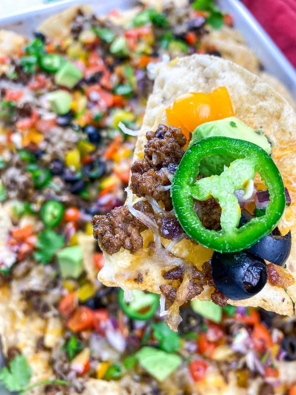 restaurant style beef nachos