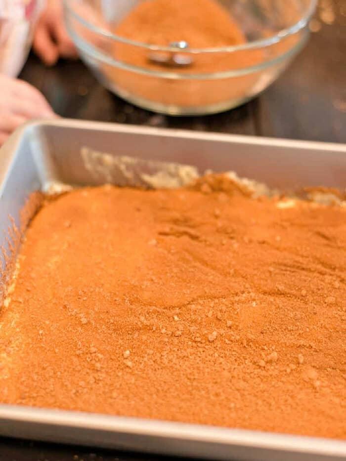 Honey Bun Cake cinnamon layer