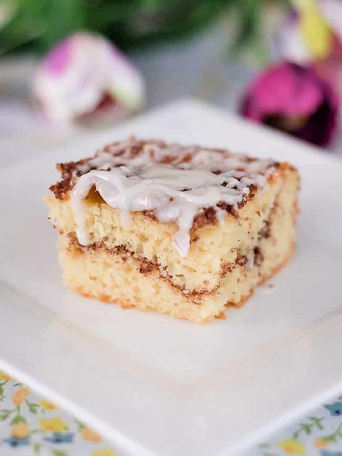 slice of Honey Bun Cake